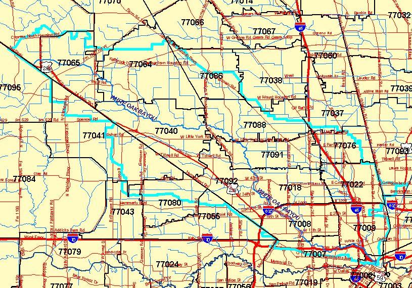 Bayous In Houston Map.White Oak Bayou Association About Us
